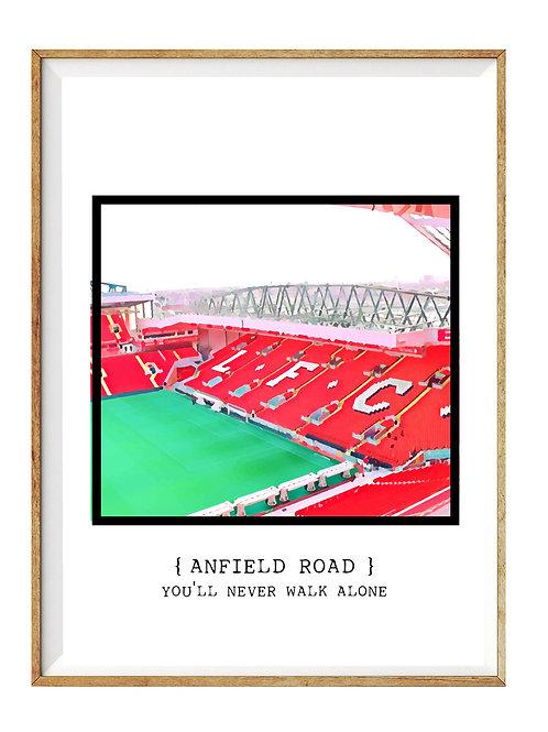 Anfield Road You´ll never walk alone color/ En hyldest