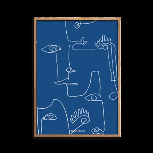 One-Line / Combined strokes, Mr. Dark Blue
