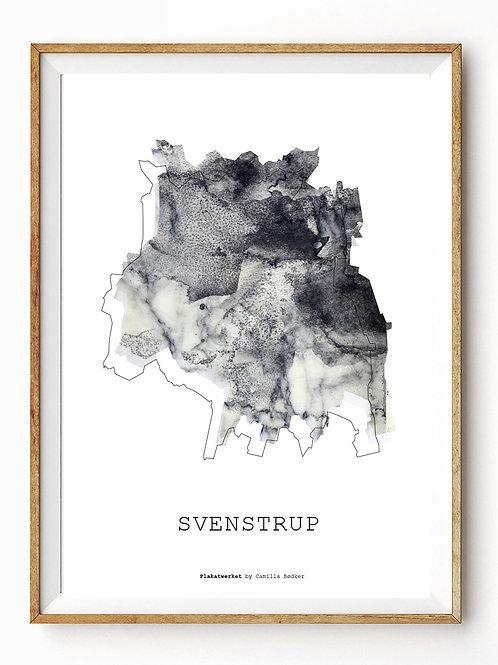 Landet rundt / Svenstrup kort / Grey