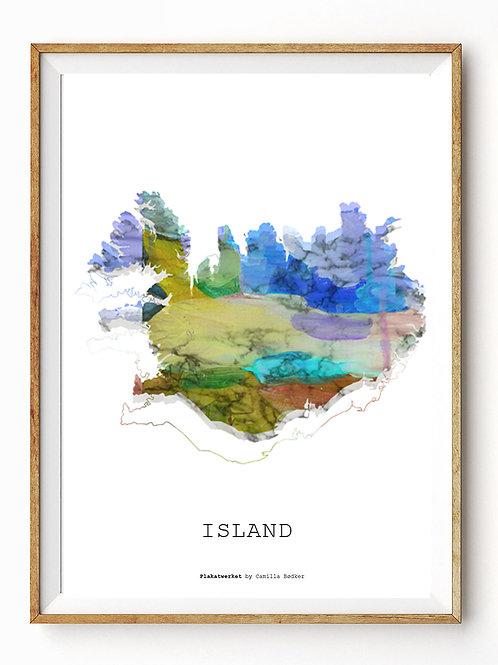 Verden rundt / Island kort / Multi A4