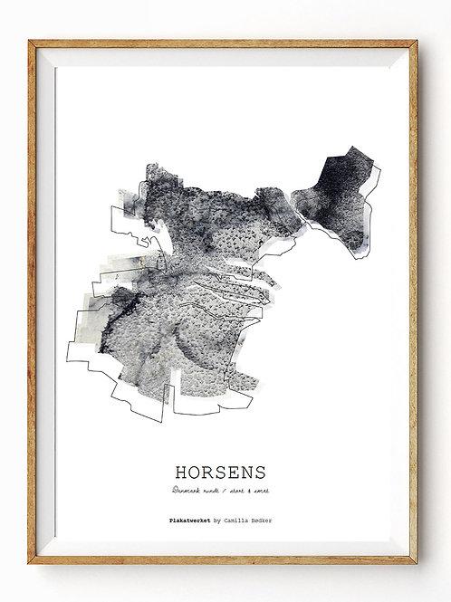 Landet rundt / Horsens kort / Grey