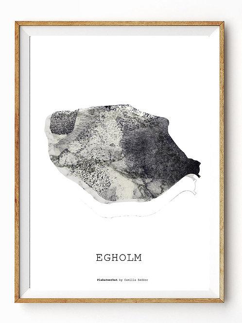 Landet rundt / Egholm kort / Grey A4