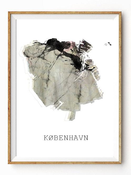 Landet rundt / København kort / Grey Rosa