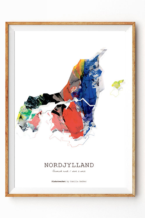 Landet rundt / Nordjylland kort / Red