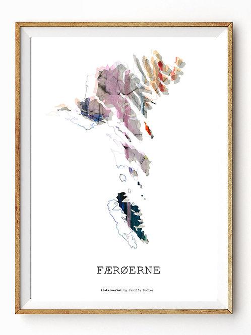 Verden rundt / Færøerne kort / A4