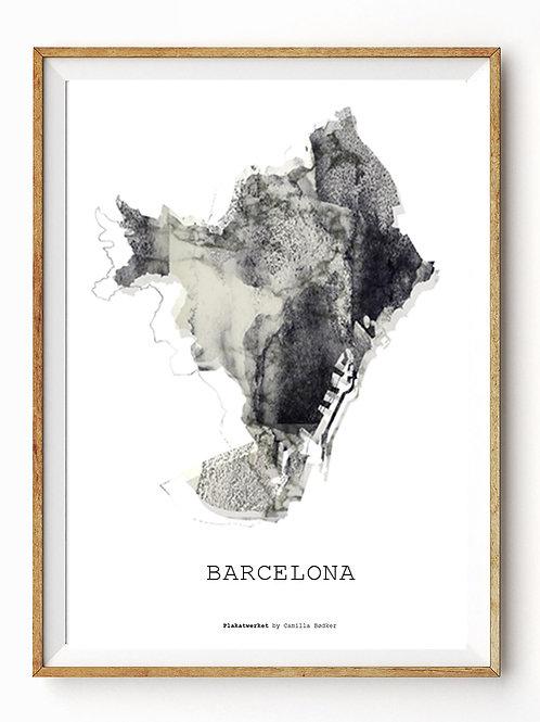 Verden rundt / Barcelona kort / Grey