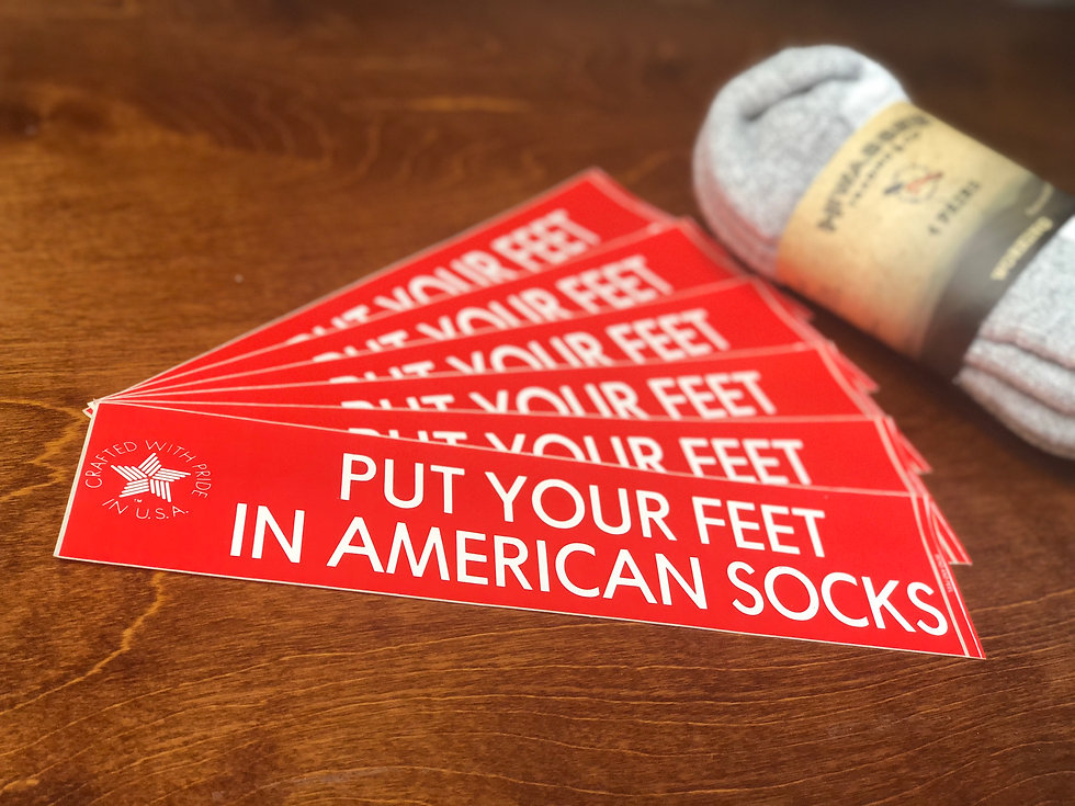 Put your feet in american socks banner image