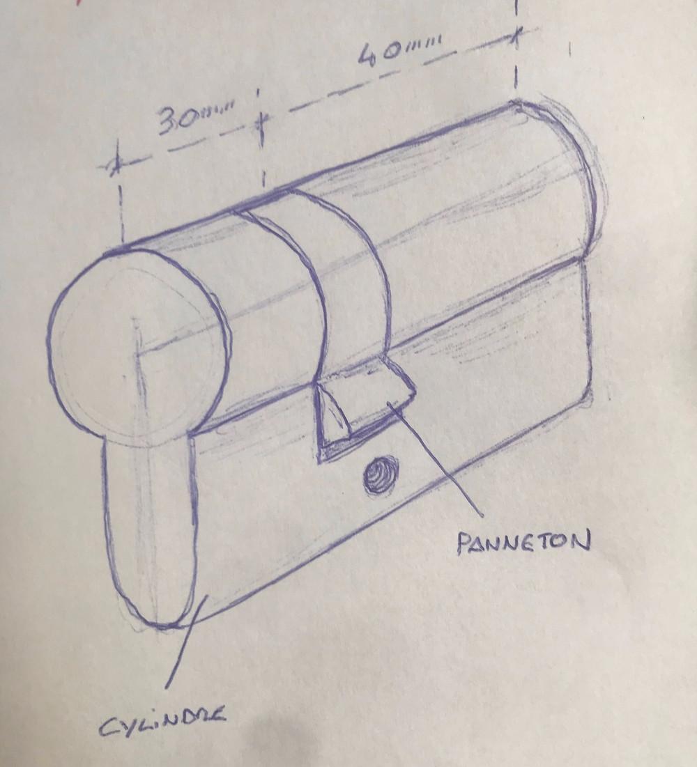 mesure serrure, mesure cylindre, la cle sous la porte