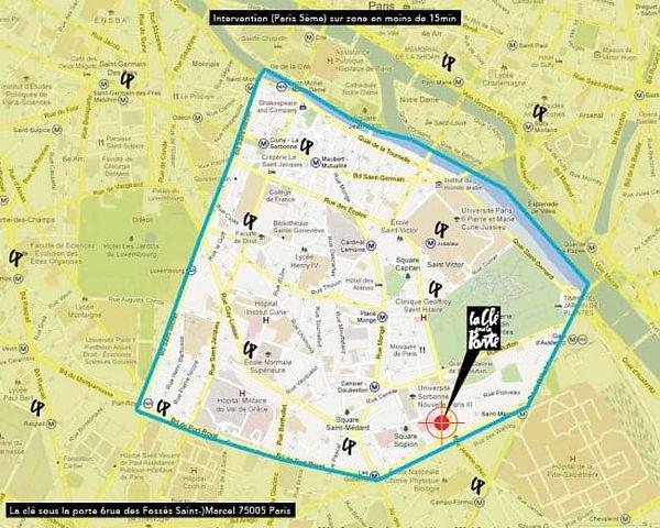zone intervention depannage serrurier paris