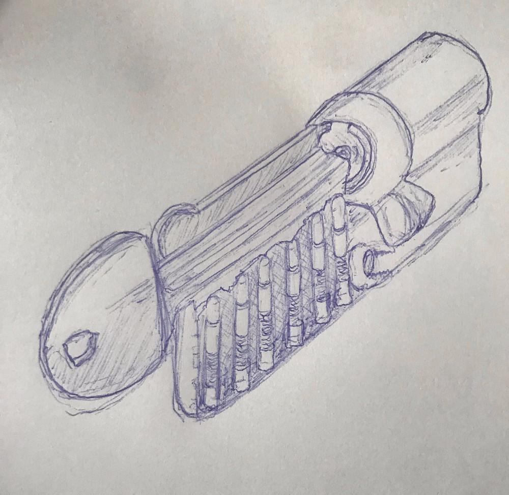 cylindre, barillet, serrure, la cle sous la porte, le panthéon, paris5