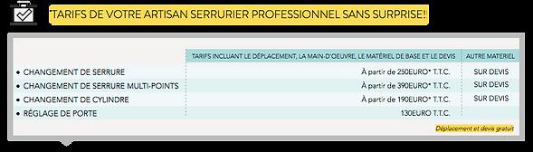 grille-tarifaire-changement-serrure-serrurier-paris-5-eme