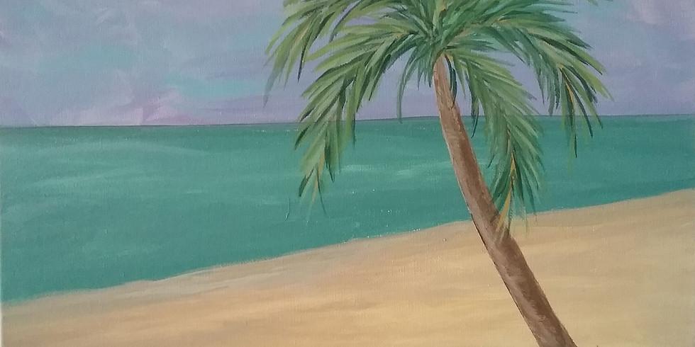 Corks & Canvas - Palm Tree