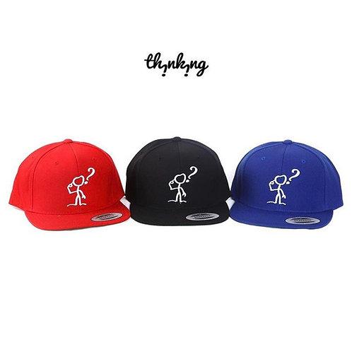 THiNKiNG Stick Figure Logo SnapBacks