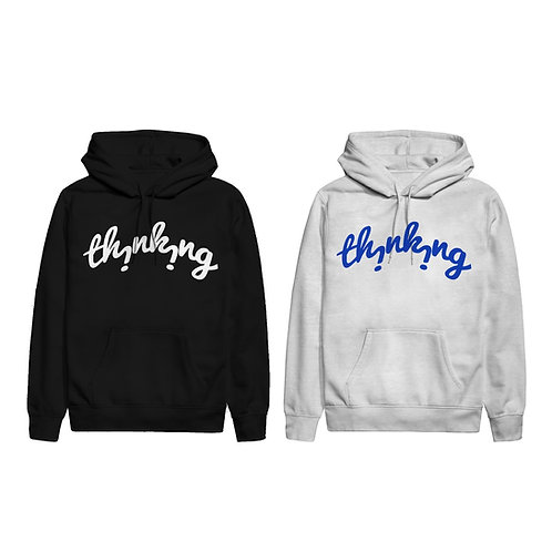"""THiNKiNG"" logo Hoodie"
