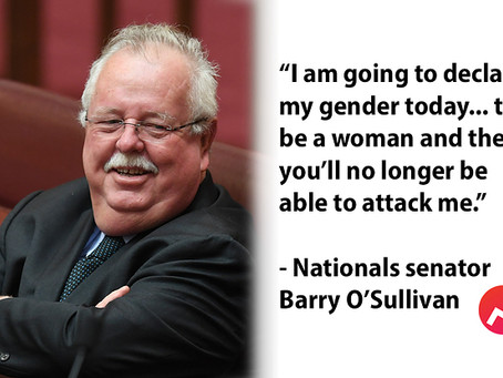 This male conservative politician says he's now a woman, so he can talk about abortion.