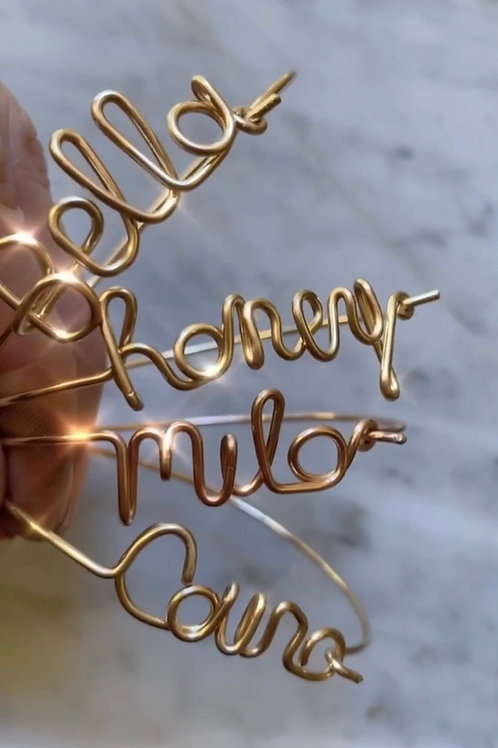 Personalized Wire Script Bracelet