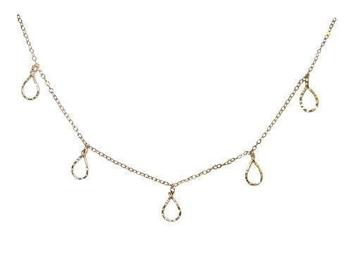 Teardrop Fringe Necklace