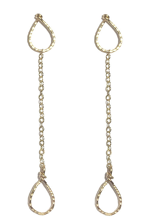 Geometric Drop Earrings - Teardop