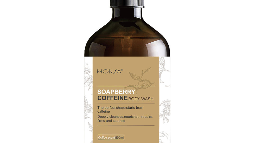 Soapberry caffeine body wash (coffee)