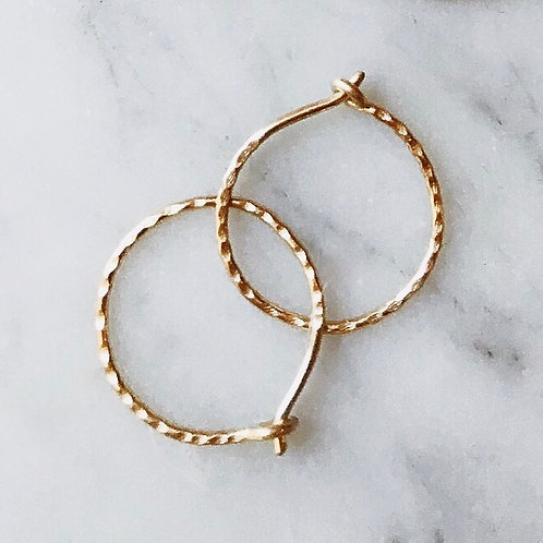 Small Hammered Hoop (20mm)