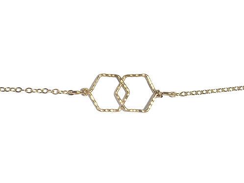 Infinity Hexagons Bracelet
