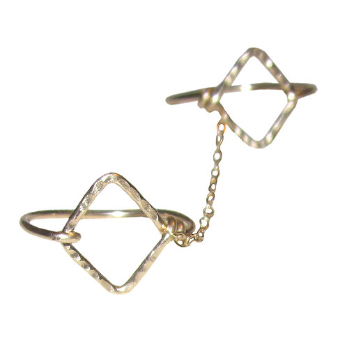 Double Diamond Ring