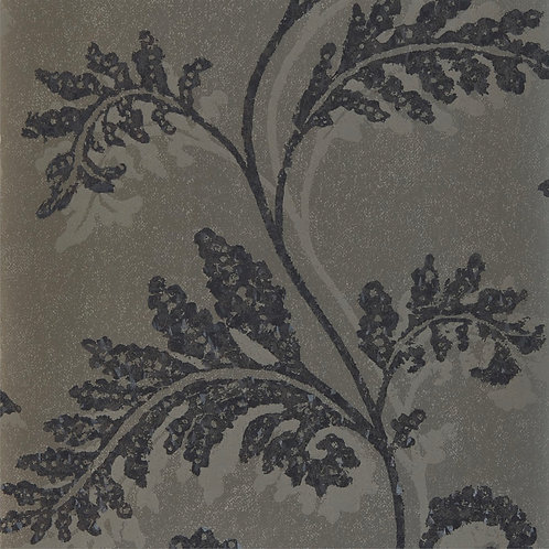 Harlequin Lucero Wallpaper - Champagne/Ebony 111728
