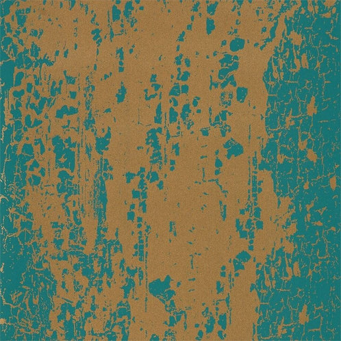 Harlequin Eglomise Wallpaper - Emerald/Rich Gold 11744