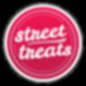 street treats logo red white border shad