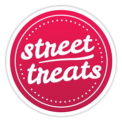 street treats logo red white border shad