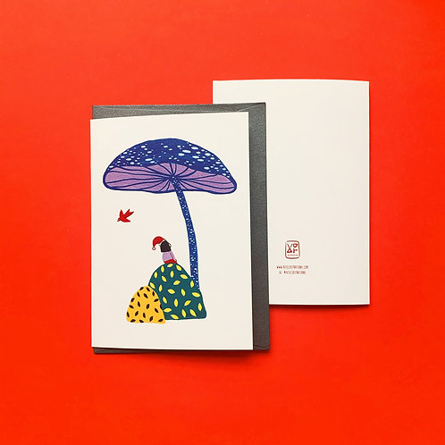 'Mushroom Bay' Greeting Card
