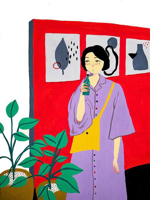 'Idle Days #1' Original Illustration