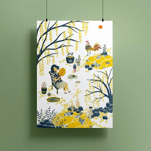 'A Time' A3 Giclee Print