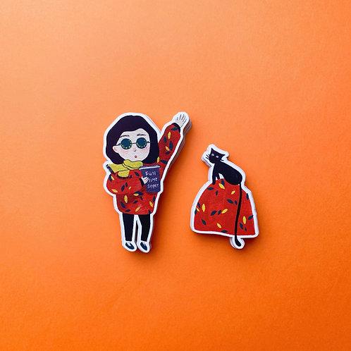 'Full Time Sipper' Vinyl Sticker Duo