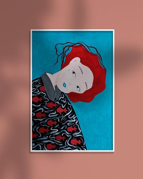 'If I Am A Fish' Illustration Print