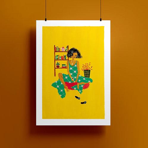 'Sunday Alone' A4 Giclee Print