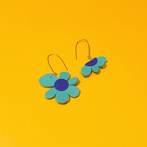 A Flower and a half Handmade Earrings