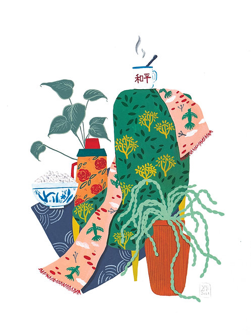 'Peace Of Rice' Original Illustration