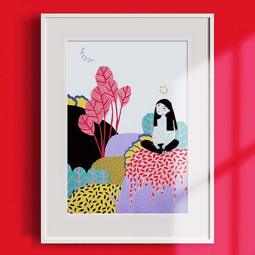 'Wild Thoughts' Illustration Print