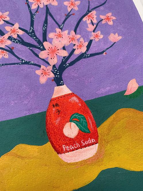'Peach Soda' Original Illustration