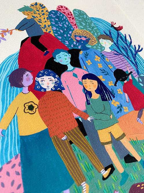 'Group Photo' Original Illustration