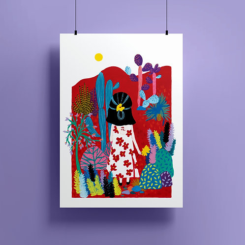 'Floral Dress' Giclee Print