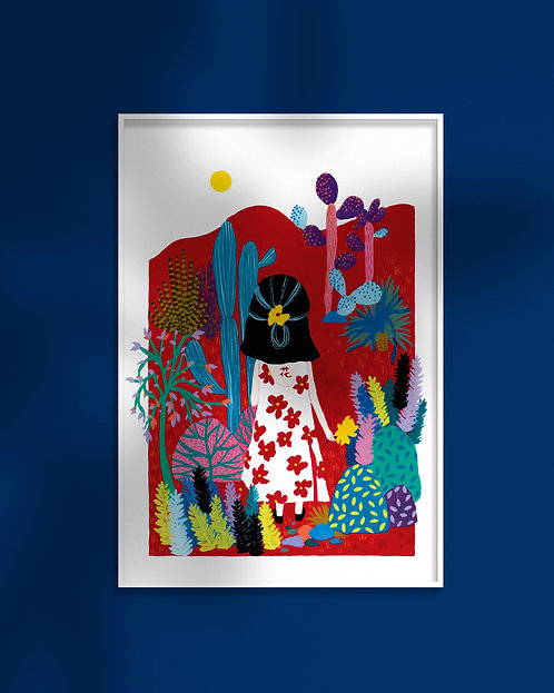 'Floral Dress' Art Print