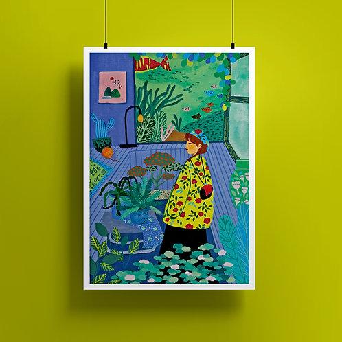 'Inner Garden' A4 Giclee Print