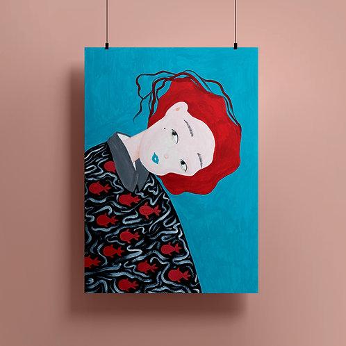 'If I Am A Fish' Giclee Print