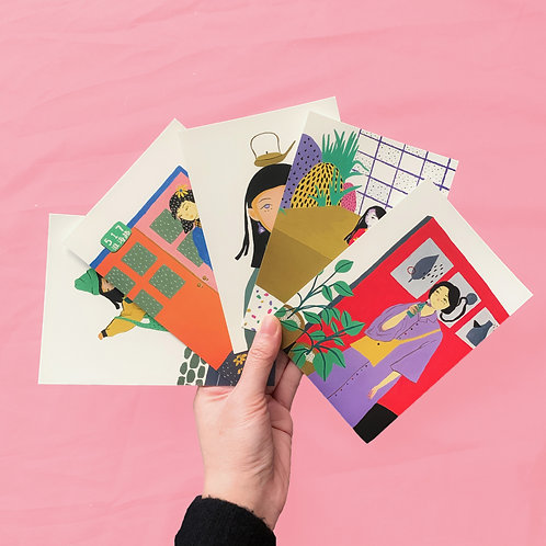 IDLE DAYS Premium Postcard Set