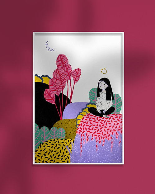 'Wild Thoughts' Art Print