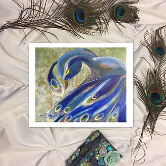 art by diana castillo, peacock art, art, peacocks, peacock feathers, christian art,