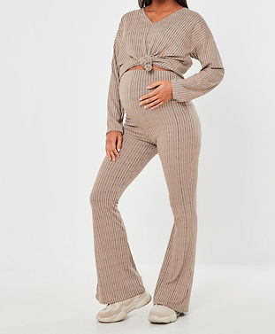maternity flared pants-pink maternity pa