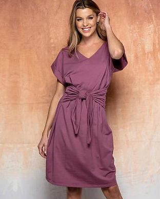 purple maternity dress-maternity dress w